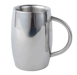 Wholesale Coffee Cup Top - Top Grade 400-500OZ Stainless Steel Tankard Double Walled Mug Insulated Tumbler Milk Coffee Mug Beer Cup Drinkware MYY