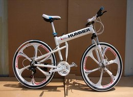 "Wholesale 26 Inch Mountain Bike Wheels - 26""x18"" inch aluminium hummer folding mountain bicycle,21 speed MTB bike, disc brakes mag magnesium wheel folding bicycle bike"
