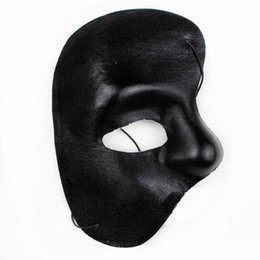Wholesale Halloween Mask Supplies - Phantom of The Opera Masks Silver Masquerade Ball Mask Mardi Gras Masks Handmade Half-face Plain Color Mask Festive Party Supplies