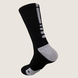 Wholesale Men Socks Black Nylon - Outdoor fashion Elite Basketball Socks Long Knee Athletic Sport Socks Men Fashion Thermal Winter Socks