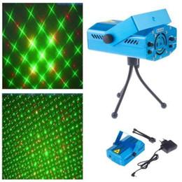 Wholesale Hot Box Dj - DJ Disco Light Stage Mini Projector R&G Party Laser Lighting blue shell HOT+BOX
