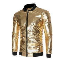 Wholesale Fabric Collar Pattern - New nightclub popular light patterned fabric jacket qiu dong men splicing collar coat the yards