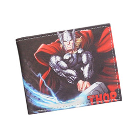 Wholesale Animated Boy - Avengers Thor Animated Cartoon Wallet Young Students Personality Short Wallet Loki Comics Purse Boys Girls Fashion Teenager Wallet Marvel