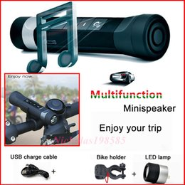 Wholesale Readers Flashlights - Riding Camping Outdoor Bluetooth Portable Multifunction LED Flashlight Built-in Battery Bluetooth Speakers + Power Bank + Flashlight+FM