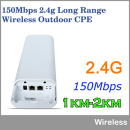 Wholesale Wifi Access Point Outdoor - 2KM Wifi Range150Mbps 2.4Ghz High Power Outdoor CPE Wireless WIFI Router WIFI Repeater Access Point Waterproof Wifi Bridge
