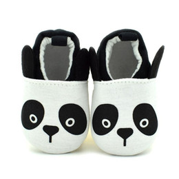 Wholesale Foot Soles - 2016 New Baby Walking Shoes Cute Panda Cartoon Breathable Cotton Fabric Slip-on Anti-slip Soft Sole Affixed to foot