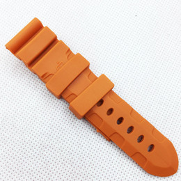 Wholesale Water Proof Rubber - 26mm 120 75mm Fashion Orange Silicone Rubber Water proof Band Strap for PAM LUNMINOR RADIOMIR Watch