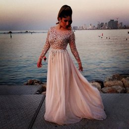 Wholesale Long Sleeve Grey Cocktail Dresses - 2017 New Arab Arabic Celebrity Evening Cocktail Dresses For Womens Sale Cheap Designer Style Haute Couture Lilac Grey Prom Party Gowns Wear