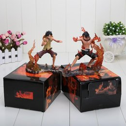 Wholesale Hot Toys Luffy - Hot sale 14cm Anime one piece POP DX Brotherhood Figures Luffy and Ace PVC Figure Toys Children's Gift