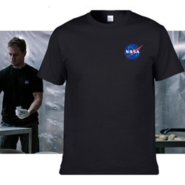 Wholesale Import Ship - NASA T Shirts Men The Martian Matt Damon T shirt For Man 2016 High Quality O Neck Short sleeve IMPORT SPACE Tee Mens T-shirt free ship 2695