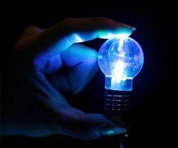 Wholesale Mini Flash Light Key Chain - Wholesale 2016 Creative LED lighting bright Mini light bulb Colorful flash key chain Keychain Flashlight Light Bulb Key Ring Lamp Torch