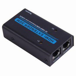 Canada Adaptateur de rallonge LAN HDMI 1080P sur câble Cat5e Cat6 vers RJ45 30M 5V / 1A pour SONY pour PS4 pour Xbox pour Apple supplier cat5e adapters Offre