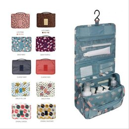 Wholesale Hanging Wall Pouch - Women Toilet Bag Make Up Cosmetic Pouch Case Travel Portable Storage Bags Fashion Zipper Ladies Makeup Bag Organizer