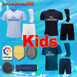 Wholesale Lavender Sets - thailand 2017 2018 Real Madrid Soccer Jerseys sets kids kits 17 18 home away 3rd maillot de futbol Football Shirts RONALDO Camiseta uniforms