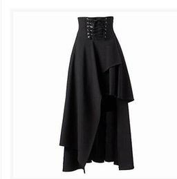 Wholesale Gothic Long Skirts Women - selling gothic Lolita dresses trials 2016 New women Long skirts Black formal skirt Free shipping