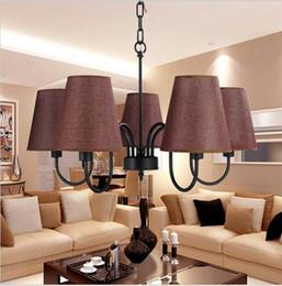 Wholesale vintage cottage kitchen - Retro Loft vintage pendant lighting chandeliers decorations for living room dining room black white vintage lighting fixtures