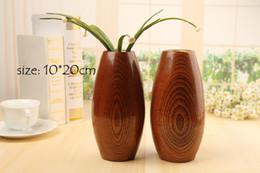 Vasi di alluminio online-Accessori per la casa Vaso in legno vaso in stile vintage con contenitore in alluminio