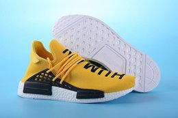Wholesale Human Trainer - NMD HUMAN RACE Pharrell Williams X Running Shoes 2018 Breathability NMD Running Sneakers Outdoor Trainers Professional Runner