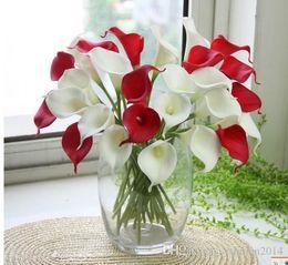 Wholesale Flower Arrangement Centerpieces - 33cm Length 9 Colors Availsble Real Touch Latex Calla Lily Lilies for Wedding Party Home Decorative Flower Arrangements & Centerpieces