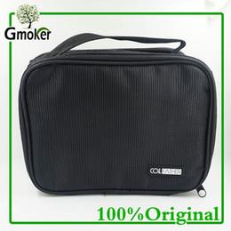 Wholesale Diy Cigarette Case - Wholesale-Double-deck Vape Pocket Vapor Tool Kit Bag for RTA RBA RDA Mods DIY Tools CarryBag Case Vape Pocket fashion electronic cigarette