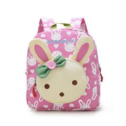 Wholesale Fabric Baby Books - Lovely Cute Kids School Bags Rabbit Bear Dolls Applique Canvas Backpack Mini Baby Toddler Book Bag Kindergarten Rucksacks BP820