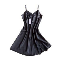 6433dd80a1f Wholesale- Ladies Silk Robe Dress Women Babydoll Nightdress Nightgown  Sleepwear Plus Size Nightdress Lace Sleepwear