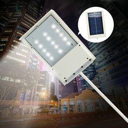 Wholesale Emergency Sensor Solar - 15 LED Solar Powered Panel LED Street Light Solar Sensor Lighting Outdoor Path Wall Emergency Lamp Security Spot Light Luminaria FREE SHIP