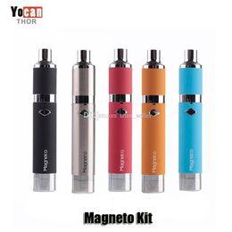 Bocaux métalliques en Ligne-100% authentique Yocan Magneto Kits 1100 mAh Batterie Bobine Magnétique Bouchon En Silicone Intégré En Céramique Bobine Wax Vapor Pen