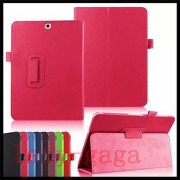 Wholesale S2 Case Ups - PU Leather Folio Case Cover Stand for Samsung Galaxy Tab A E S2 T580 T810 T710 T280 T377 Magnetic sleep wake up function