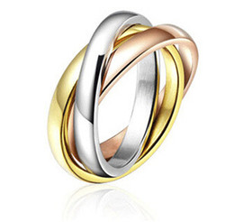 Wholesale Korean Colors Christmas - Three Colors Alloy Rings For Women Men Korean Style Wholesale Christmas Party Gift