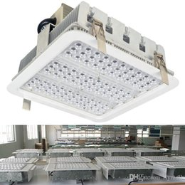 Wholesale Bay Ceiling - Explosion Proof Canopy Light Finned Radiator 100W 150W 180W LED High Bay Light for GAS Station Light Warehouse Lamp Recessed Ceiling Light