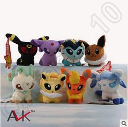 Wholesale Stuffed Lugia - Poke Mon Plush Toys 8 Styles 13cm Suicune Charizard Wobbuffet Lugia Pikachu Jigglypuff Gengar Lucario Poke Stuffed Animals CCA4611 240pcs