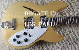 Wholesale Dot Guitar - Custom Ric 360 Fire Glo Original Natural Finish Rare 12 Strings Electric Guitar Dot Mother Of Pearloid Fingerboard Inlay Top Seliing