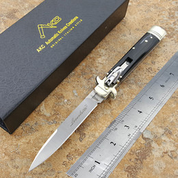 Wholesale Hunt Horn - Italian Mafia AKC Leverletto 9-inch multifunction folding automatic knife switch blade outdoor portable spring knife D2 steel horn