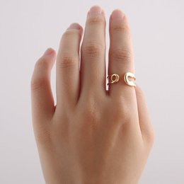 Wholesale Fashion Safety Pins - 2016 Hot Fashion Vintage Handmade Min 1pc-Gold,silver,rose gold Big Safety Pin Ring - adjustable rings EY-R016