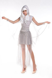 Wholesale Halloween Sexy Womens Costumes - Halloween costume zombie stage under appeal female the ghost bride demons Sexy Womens Corpse Party Event Coser Cosplayer