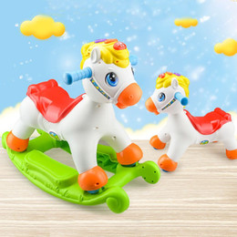 Wholesale Inflatable Chairs For Children - Department of music toys for children 1-2 years of age the baby rocking chair can sit sliding sound horse dual-purpose children Rocking Hors