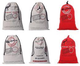 Wholesale Cotton Candy Favors - Santa Sack bag Christmas Stocking Jute Gift Bag canvas cotton elk Santa Claus Drawstring Bags pouch XMAS favors candy gifts wrap COS props