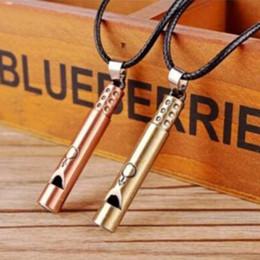 Wholesale Halloween Whistle - MIC 10pcs Personality creative fashion Antique bronze & Antique copper alloy Whistle charm Pendant Men's Necklace
