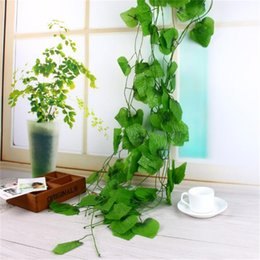 Wholesale Decorative Artificial Grapes - Artificial Wall Mounted Grape Vine Simulation Fake Silk Plant for Home Wedding Party Wall Mounted Green Decorative Plant