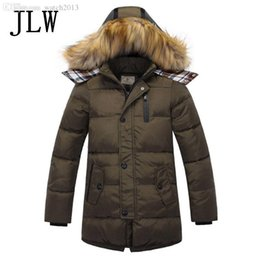 Wholesale Childrens Jackets Coats - Wholesale-2016 new boys winter jacket childrens clothing boys parka down jacket big boy jacket long sections genuine thick winter jackets