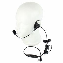 Wholesale Kenwood Radio Mic - Wholesale-Hot 2 PIN D-Shape Earpiece Headset Boom Mic Finger PTT for KENWOOD Retevis BAOFENG UV5R H555 WOUXUN PUXING Radio C2201A eshow