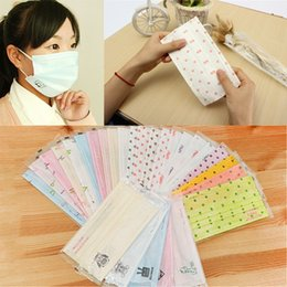 Wholesale Cute Mouth Masks - Fashion Girl Lovely Cute Face Masks Non Woven Disposable Face Mask Candy Salon Dust Proff Ear Loop Medical Mouth Full Random Colors