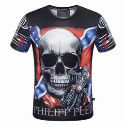 Wholesale Skull Shirts Mens - New Fashion Skulls Print #00209 Robin Man T-Shirt Cotton Short Sleeve Medusa Mens Tshirt Male 3D Print Pullover Casual Fitness Tops Tees