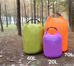 Wholesale Sport Leather Travel Bag - 20L 40L 70L Outdoor Waterproof Dry Bag For Outdoor Canoe Kayak Rafting Camping & Hiking Travel jy548