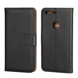 Wholesale Plastic Id Pouch - Genuine Wallet Leather Pouch Case For MOTO M G4 Play Google Pixel 2 XL Huawei Y6 PRO Sony Xperia XZ X Compact Real Stand ID Card Skin Cover