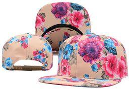 Wholesale Blank Floral Snapback Hat - High Quality Floral Blank Snapback Caps & Hats Snapbacks Snap Back Hat Men Women Baseball Cap Cheap Sale