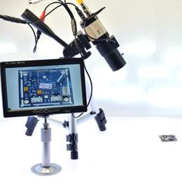 Wholesale Industrial Lcd Monitor - Freeshipping 800TVL BNC Tripod Microscope Camera Industrial Camera 6-60mm Varifocal Zoom Lens Auto Iris 7 inch AV LCD Monitor