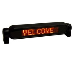 Wholesale 12v Led Scrolling Sign - Car Sign Light Display red color 12V LED Message Digital Moving Scrolling With Remote Control 1pcs.