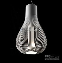 Wholesale Modern Minimalist Chandelier Free Shipping - Free Shipping Italy Designer Bamboo Cages Chandeliers Modern Minimalist Restaurant Lights